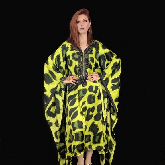 e3a6bcd230 Dresses | Neon Animal Print Kaftan | Poshmark